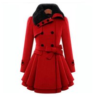 Wholesale Double Hood Jacket - New 2017 Women Woolen Thicken Warm Winter Coat Hood Parka Overcoat Long Jacket