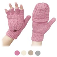 Wholesale Wholesale Fingerless Magic Gloves - Wholesale- 1Pair Solid Screen Magic Wool Gloves Women Girl Female Stretch Knit Gloves Mittens Hot Winter Warm Accessories