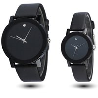 Wholesale Sinobi Casual - Wholesale- Sinobi New Fashion Black White Mens Womens Leather Quartz Analog Wrist Watch Boy Girl's Student Elegant classic casual watches