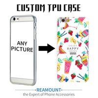diy case iphone tpu toptan satış-2018 Sıcak Yeni Diy Özelleştirilmiş Durumda Özel Logo Tasarım Fotoğrafları Baskılı Telefon Kılıfı iphone 6 6 artı Cep Telefonu Kılıfı