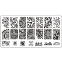 Wholesale Beautiful Templates - Wholesale- 1pcs Nail Art Stamp Template Beautiful Flower Lace Design Image Stamping Plates Stainless Steel 12x6cm Stencils Decor Tools BC10