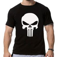 Commercio all'ingrosso - camicia di compressione film stampati magliette Uomo Raglan maglietta manica corta Punisher Cosplay Costume Slim fit Tops maschile