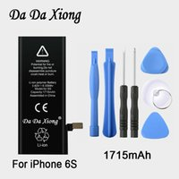 Wholesale Battery Iphone Kit - Original Da Da Xiong Battery For Apple iPhone 6S 6GS 1715mAh Real Capacity With Machine Tools Kit Replacement Batteries