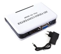 Wholesale Mini Hdmi Projector Cable - DHL Mini HD 1080P Audio VGA To HDMI HD HDTV Video Converter Box Adapter With Cable For PC Laptop to HDTV Projector