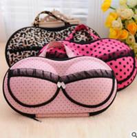 Wholesale Bra Hard - Hot Women Bra Storage Case Beach Bags Protect Underwear Lingerie Travel Bag Box Portable Storage Box