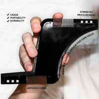 Wholesale Hair Template - The Ultimate Beard Guide Beard Shaping Tool Sex Man Gentleman Beard Trim Template hair cut molding trim template