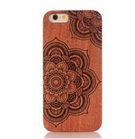 китайский сотовый телефон samsung оптовых-Китай природа дерево бамбук сотовый телефон чехол деревянный с ПК резные деревянные чехлы жесткий задняя крышка для Iphone 5 6 7 6s плюс