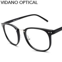 ingrosso grandi occhiali quadrati-Vidano Optical 2017 Nuovo arrivo Big Square Occhiali da vista per le donne degli uomini Elegante stilista Occhiali Retro Hot Casual UV400 Eyewear