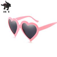 Wholesale Box Heart Designs - New fashion heart sunglasses women big box color female sunglasses cute design Funny glasses UV400 RA238