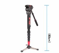 Wholesale Tripod Camera Video Monopod - Free Shipping JY0506 Aluminum Alloy Professional Monopod For Video & Camera   Tripod For Video  Tripod Head & Carry Bag wholesale