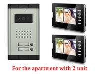 Wholesale Video Intercom Units - Apartment 2 Units Wired Video Door Phone Audio Visual Entry Intercom System 1V2