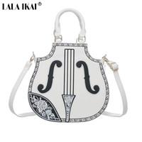 Wholesale Violin Brands - Wholesale- LALA IKAI Original Brand Lady Violin Messenger Bag New Summer Women Bag Noble Women's Handbags with Embroidery BWC0400-5