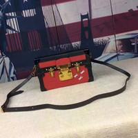 Wholesale Women Shoulderbags - Wholesale Christmas Gift Luxury Red Designer bags Genuine Leather Women Shoulderbags Graceful Genuine Leather Flap Pocket Ladies Bags