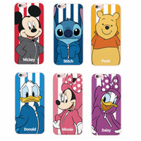 Wholesale Iphone Donald - Minnie Mickey Cartoon Donald Duck Stitch Daisy Sportswear Phone case For iPhone 6 6Plus 6S 5 5S 4S 7 7plus SAMSUNG