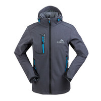 Wholesale Manteau Hoodies - TIONG New Spring Autumn Outdoors Warm Hoodie Manteau Veste Homme Softshell Jacket Men Waterproof Windbreaker Man Coat Chaquetas Hombre