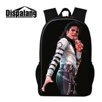 Wholesale National Lighting - Fashion Pop King MJ School Bag For Teenagers Michael Jackson Printing Women Men School Backpacks For Students Children Books Bag