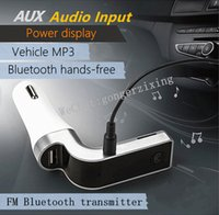 Wholesale Car Tf - Hot CAR G7 Bluetooth FM transmitter Vehicle MP3 Bluetooth Handsfree Car Charger With Insert TF Card