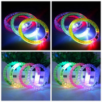 Wholesale Led Blinking Bracelets - Glow Light Sticks Party Safety Bracelets LED Flash Blink Glow Acrylic Club Bracelet Fluorescence Club Stage Bracelets OOA3305