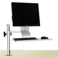 Wholesale Industrial Lcd Monitor - Industrial LCD Monitor display screen wall mount + keyboard tray+ mouse stand Tray Mount Computer Bracket