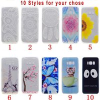 Wholesale Cover Huawei Butterfly - Mandala Henna Flower TPU Soft Case For Samsung Galaxy S8 2017 A3 A5 J5 J7 Huawei P8 Lite Butterfly Feather Cat Cherry Phone Cover 100pcs