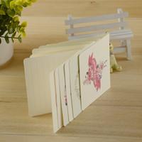 flores do pai venda por atacado-Hot wholsales estilo Simples Festival Pai Dia das Mães De Aniversário de Natal Carta Flor Cartões de Impressão Frete Grátis