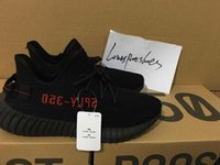 Wholesale Infant Shoes Gold - [With Box] Free shipping Cheap Hot 350 Boost V2 Zebra Triple White Beluga Sply 350 Black Red Infant Men Women Sply 350 v2 Boost Shoes