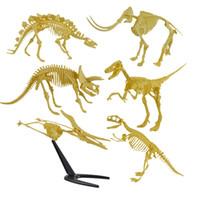 Wholesale Fossil Dinosaur - Assorted Plastic Dinosaurs Fossil Skeleton Dino Figures Kids Birthday Toy Gift