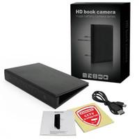 cámaras de grabación activadas por movimiento al por mayor-HD Libro de video Cámara 1080P Clip de documento Cámara estenopeica IR Visión nocturna Detección activada por movimiento Grabación de video Videocámara