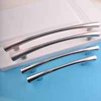 Wholesale Office Wardrobes - shippping free polish nickel aluminum alloy bar bedroom furniture office living room wardrobe door cupboard kitchen cabinet pull handle