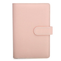 Kicute Modern Candy Color A6 Leather Loose Leaf Notebook Weekly Monthly Planner Diary Lined Блокнот Повестка дня Ring Binder Организатор