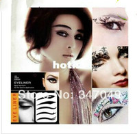 Wholesale pack eye shadows resale online - 5packs pairs pack Eye Liner Tattoos Mixed Designs Temporary Tattoo Eye Shadow Sticker Eye Beauty Makeup Tools