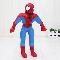 örümcek adam malzeme oyuncakları toptan satış-Ücretsiz Kargo Sevimli Marvel Şaşırtıcı Avenger Spiderman Spiderman 12