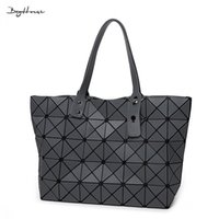 Wholesale folding surfaces - Wholesale-BaoBao issey women Matt Surface Retro Tote Shoulder Bags Miyake Famous brand Sequins Folding Handbags casual Top-handle bags