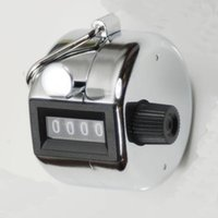Wholesale Golf Counters - Wholesale- Silver Mini People Doorman Hand Tally Counter 4 Digit Number for Golf Sport