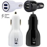 автомобильный порт 12в оптовых-Быстрое быстрое адаптивное автомобильное зарядное устройство 5V 9V 12V 3.1A Dual USB-порт Автомобильное зарядное устройство адаптер для Samsung Galaxy S6 S7 S8 плюс примечание 4 5 GPS MP3 PC