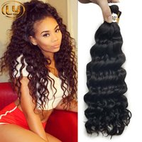 7A Great Deep Curly Human mini Braiding Bulk Hair No Weft 3Bundles Malásia Deep Curly Wave Cabelo em massa humana Comprar 3Lot Get 1Pcs Free