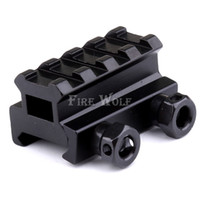 4Slot Low Riser 21mm / 20mm Weaver Picatinny Rifle Base do trilho lateral curto Airsoft Paintball Riser Scope Mount