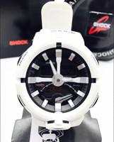 Wholesale Double Chronograph Watch Men - fashion Digital watches Double explicit new style relogio GA500 men's sports watches men watch light LED chronograph wristwatch no box