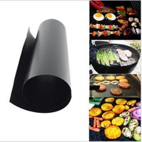 Wholesale cooking tools - Non Stick BBQ Grill Mat Thick Durable CM Gas Grill barbecue mat Reusable No Stick BBQ Grill Mat Sheet Picnic Cooking Tool KKA1849
