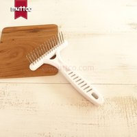Wholesale Cleaning Tools For Teeth - high quality stainless steel comb double teeth for grooming dog comb DCO-A014