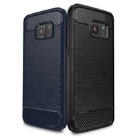 "Wholesale Drawing Pattern Case - IPAKY® Wire Drawing Samsung Galaxy S7 TPU Case with Carbon Fiber Pattern Flexible Slim Case for Samsung Galaxy S7 (5.1"" Screen)"