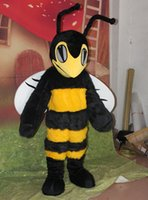 Wholesale Make Bee Costume - Cute Yellow Hornet Bee Mascot Costume Fancy Birthday Party Dress Halloween Carnivals Costumes With High Quality For Adult