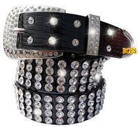 Wholesale Ladies Wide Leather Belts - hot sale Korean Full rhinestone encrusted patent crocodile PU leather wide Crystal diamond fashion women ladies female designer belts