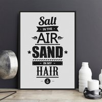 Wholesale Hair Posters - Free shipping novelty gift salt in the air sand in my hair words anchor pattern home cafe hotel decorative hanging poster photo picture