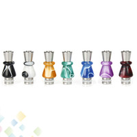 Wholesale Ego Hybrid - E-Cigarette Acrylic and Stainless Steel Material 510 Drip Tips Hybrid Column 510 EGO Mouthpiece Electronic Cigarette Accessoriess