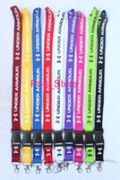 Wholesale Hot Badge - Hot lot 10pcs Under Armor UA Fashion Clothing Lanyard Detachable Keychain iPod Camera Strap Badge Cell 9 colors can pick