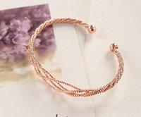 Wholesale Gold Jewellery Designs - New Fashion Rose gold silver Distorted pattern Bracelet charm Bangles Classic Fashion Jewellery Opening Design Bracelet For Women aa147