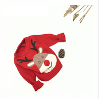 Wholesale 2016 latest warm winter sweater sweater and Tong Xiaotong cartoon deer elk sweater for Christmas