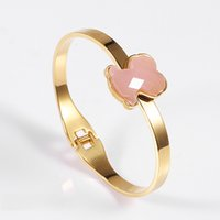 Wholesale Bangle Resin - TL Stainless Steel Bear Bangle Bracelet Never Fade Brand Jewelry High Quality For Women 3 Colours