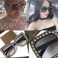 Wholesale Small Square Sunglasses - 0148 Hot Brand Designer Square New Fashion Sunglasses G 0148S Mosaic luxury diamonds design fashion Sunglasses large squre frame small legs